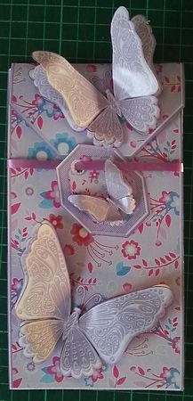 Lilac Floral Pattern with Butterflies Gift Card Money Envelope Mini Kit on…
