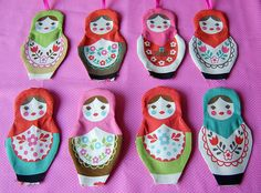 Lavender scented russian dolls for Sandra, by Joyful Lova