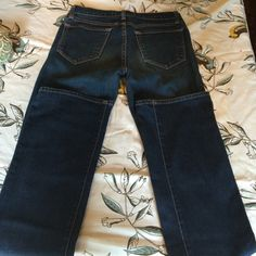 J Brand straight leg jeans Excellent condition j brand straight leg Jean. No wear marks, dark blue with orange stitching. Long leg, 34 inseam J Brand Jeans Straight Leg