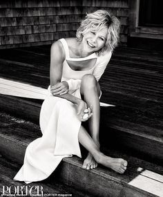 """Meg Ryan is totally over all the hubbub on her evolving looks. The actress opens up to Porter magazine on aging, and says there are """"more important conversations"""" than how a woman looks as she ages. """"I love my age,"""" Ryan stresses. Sophie Marceau, Romy Schneider, Marylin Monroe, Julia Roberts, Audrey Hepburn, Meg Ryan Hairstyles, Short Hairstyles, Haircuts, Pamela Hanson"""