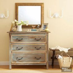 Follow this dresser makeover guide will show you step-by-step how to give your dresser a new and improved look. This DIY project is budget-friendly and will give any room a new look and a pop of color. Transform an old dresser for a fun weekend project and turn it into a fabulous new piece of furniture.