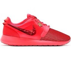 Shoes: nike rosherun gold pink red  nikeid shoes