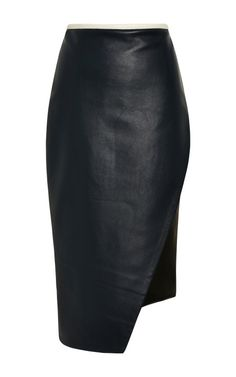 Asymmetrical Leather Pencil Skirt by Jonathan Simkhai - Moda Operandi