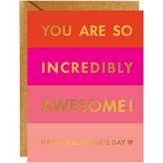 Gold Foil Card for Valentine's Day - Sweet! Valentines Day