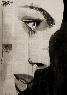 "Saatchi Online Artist Loui Jover; Drawing, ""verity"" #art"