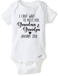 Grandma and Grandpa Gift. Custom Baby Announcement Due Date Onesies®, New Grandparents Gift Pregnancy Announcement To Parents, Pregnancy Tips, Baby Announcements, Pregnancy Clothes, Grandma And Grandpa, Grandpa Gifts, Pregnant Mom, Future Baby, Breastfeeding
