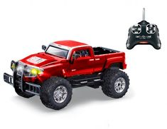 Hoffman Hummer H3T Concept 1:24 High Profile 27MHz Radio Controlled Model Red Hummer, Radio Control, Profile, Concept, Toys, Car, Model, User Profile, Activity Toys