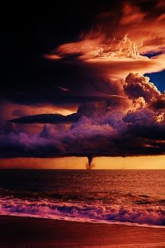 the colour red is known as danger, anger and love. i chose this photo becasue i think the sky gives off a dangerous vibe