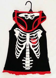 Skeleton And Heart Cami Set Skull Fashion, Punk Fashion, Gothic Fashion, Fashion Outfits, Gothic Dolls, Gothic Lolita, Pjs, Pajamas, Pin Up