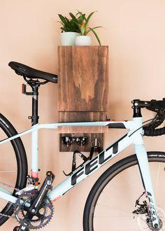 DIY Wall Mounted Bike Rack - DIY Huntress