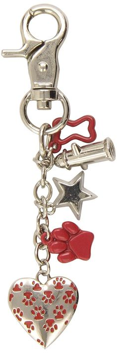 LittleGifts Red Paw Heart Keychain and Charm Set ** Want additional info? Click on the image.