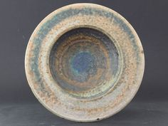 Francesca M Lind, Arabia - Very appealing raw stoneware bowl in green and brown