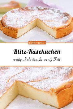 Blitz-Käsekuchen – nur 7 Zutaten | eatsmarter.de #blitzrezept #käsekuchen #kalorienarm #fettarm