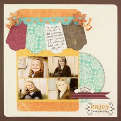 Canning jar page.  Made with the National Scrapbook Day paper.