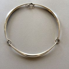 e28e4a759 Gallery 925 - Hans Hansen Modernist Necklace, Handmade Sterling Silver