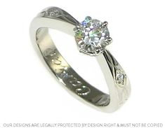 Celtic inspired platinum and diamond engagement ring this ones  for you codi i thought of you when i saw it