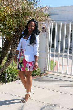 Major Must Haves - Blog- white blazer, floral skirt