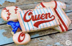 Baseball Baby Sugar Cookies Sweet17Cookies.Etsy.com