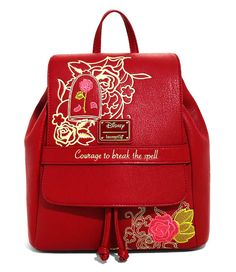 Loungefly Disney Beauty And The Beast Enchanted Rose Mini Backpack - BoxLunch Exclusive - Fatih Disney Handbags, Disney Purse, Cute Mini Backpacks, Girl Backpacks, College Backpacks, Canvas Backpacks, Enchanted Rose, Disney Enchanted, Cute Purses