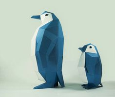 Pinguin-Modell Pinguin Papier DIY-Kit 3D Papercraft von LPobjects