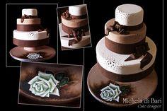 Wedding cake con vassoio dipinto a mano ♥