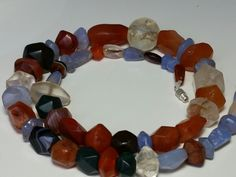 A beautiful necklace of ancient faceted beads