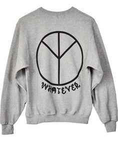 Whatever Grey Sweatshirt by Obesity & Speed