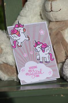 Faire part naissance, carte félicitations, baptême, bienvenue bébé personnalisable 2 Licornes - mauve : Cartes par la-petite-carterie-foxy