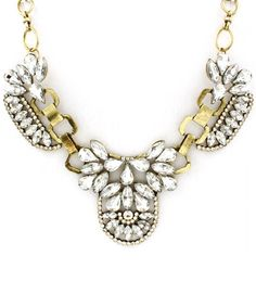 Crystalized Princess Statement Necklace Gold Iced Mademoiselle Necklace