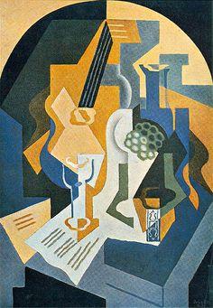 Juan Gris, Still Life with Fruit Dish and Mandolin, 1919