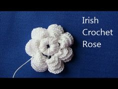 Irish Crochet Basics, a Rose