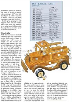 Wooden Toy Car Plans - Wooden Toy Plans