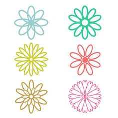 Daisy Flowers Cuttable Design SVG, DXF, EPS use with Silhouette Studio... ($2.99) ❤ liked on Polyvore featuring home, home decor, vinyl home decor and cricut