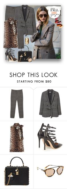 """404"" by believelikebreathing ❤ liked on Polyvore featuring MANGO, Boutique Moschino, Gianvito Rossi, Dolce&Gabbana, Westward Leaning, Ashley Pittman and pantssuits"