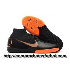 Deportes Botas De Futbol Nike Mercurial SuperflyX VI Elite IC Negro Naranja  Blanco 9cd0db77e36c1