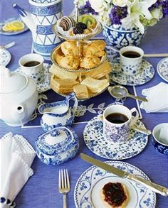 things which are must at a tea party table are; tablecloth, linen napkins, cups & saucers, tea spoons, sugar tongs, sugar bowl, tea strainers & lemon dish. Other items will depend on what you are serving. If you are serving scones, you will need knives along with small bowls of dips, jams, yogurt and cream. For sandwiches, you will need tongs and jam or butter, depending on the sandwiches. If you are having cakes, add forks to the table. While setting the table, put the napkins in napkin…