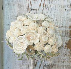 Soft White Wildflower Handmade Custom Bride's by TheSunnyBee, $82.00