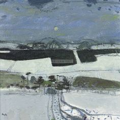 Panter & Hall: Sandy Murphy RSW RGI PAI: Winter, Galloway Hills Pastel Paintings, Abstract Paintings, Landscape Paintings, Abstract Art, Textile Artists, Winter Scenes, Abstract Landscape, Painting & Drawing, Modern Art