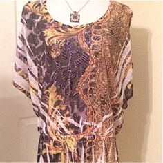 Batwing Cold Shoulder Top Sequins multiple color batwing cold shoulder top . Gathered waist. Sequins on front only.  Very light.  NWOT Dots Tops Blouses