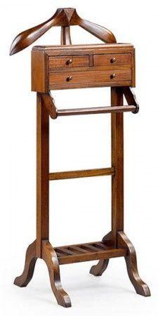 Valet de chambre en bois d\'acajou, Veland   art stand   Valet stand ...