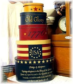 4th of July decorating and crafts/try using old nut cans of different sizes, etc.