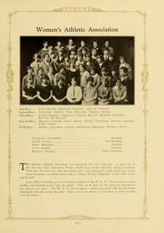 """Athena yearbook 1925. The Women's Athletic Association (WAA) was founded in 1921. The organization """"grew out of the  idea that Ohio University Women should have better physical training."""" :: Ohio University Archives."""