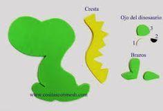 Resultado de imagen para centros de mesa de dinosaurios para fiestas infantiles