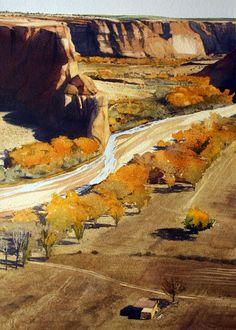 Robert Highsmith | Autumn in the Canyon, watercolor, 20 x 14.