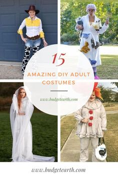 Looking for an amazing Halloween costume? Check out these 15 Amazing DIY Adult Costumes here! #Halloween #Halloweencostumes #DIYHalloween #AdultHalloweenCostumes #DIYcostumes Handmade Halloween Costumes, Homemade Halloween Decorations, Halloween Outfits, Cool Costumes, Halloween Makeup, Halloween Drawings, Halloween Cartoons, Halloween Projects, Craft Projects