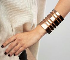 I love a great cuff! This one is so graphic! Bars Cuff