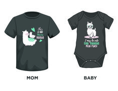Get your mama llama and matching onesie or toddler T-shirt too.