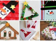 Adornos navideños con paletas de helados para hacer con los niños Advent Calendar, Embroidery, Holiday Decor, Crafts, Diy, Ideas, Home Decor, Paper, Christmas Things