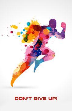 Running man vector free color splash on threadless. Logo Design, Design Blog, Graphic Design, Design Design, Blog Logo, Paint Splash, Color Splash, Pintura Vector, Adobe Illustrator