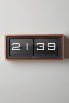 Retro Wall Clock - via anthropologie – We collect similar ones – Only/Once… Digital Clocks, Digital Wall, French Clock, Deco Studio, Outdoor Clock, Sweet Home, Design Industrial, Retro Clock, Wall Clock Design
